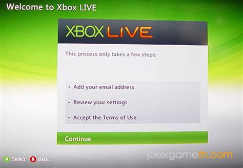 yahoo email xbox live ว ธ สม คร xbox live ในเคร อง xbox360 และ xbox slim