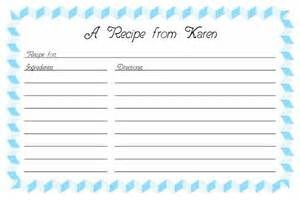 publisher recipe template recipe card template 2
