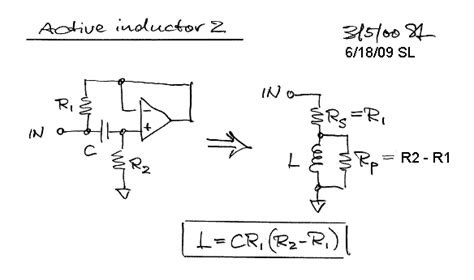 active inductor gyrator page index