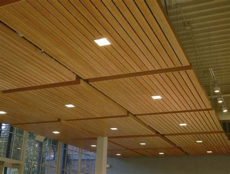 Ceiling Finishing by Lovely Basement Ceiling Ideas Wood Panel Ceiling With Square Downlights Awesome Finishing