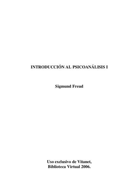 introduccin al psicoanlisis el introducci 243 n al psicoan 225 lisis