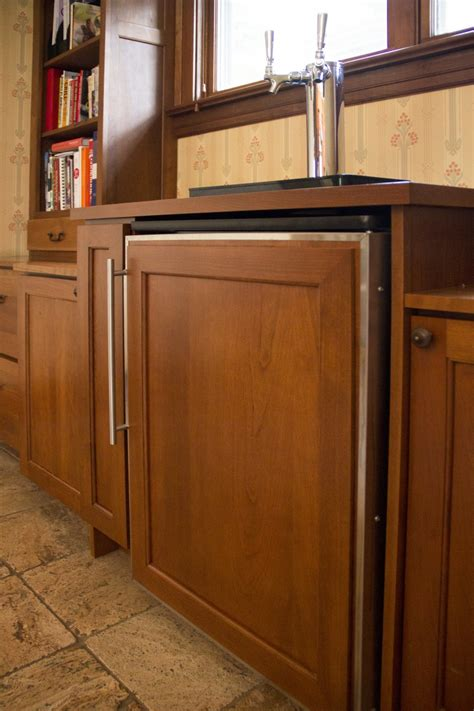 built in kegerator exiting desk built in kegerator home ideas collection