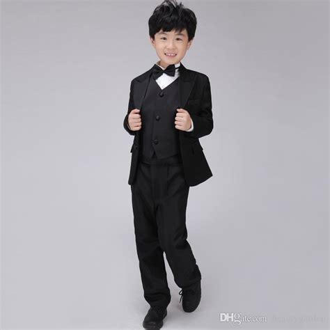Set Blazer Dress Vest Shirt formal blazer suit boys tuxedo set includes shirt