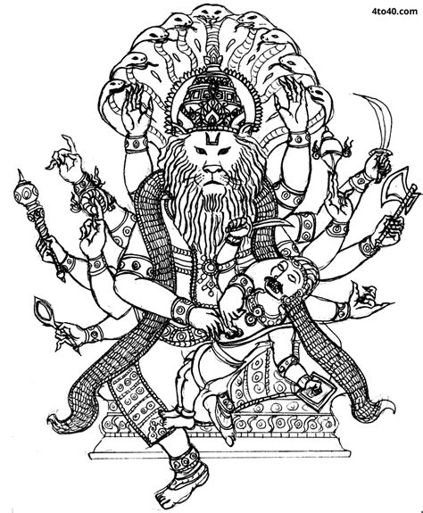colouring pages for hindu gods hindu gods om vector