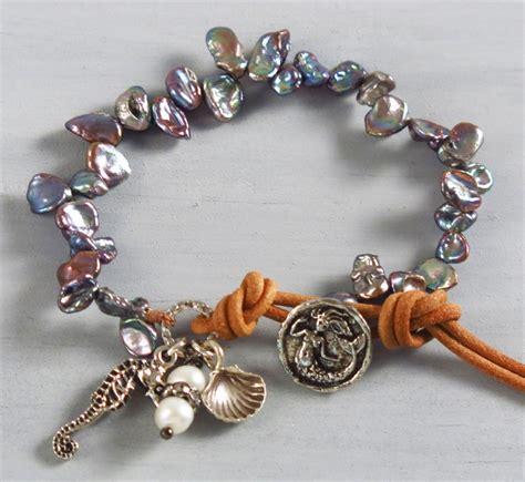 Handcrafted Jewelry Websites - handmade boho blue keishi pearl bracelet handmade jewelry
