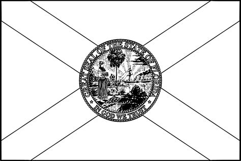 Florida State Flag Florida State Flag Coloring Page