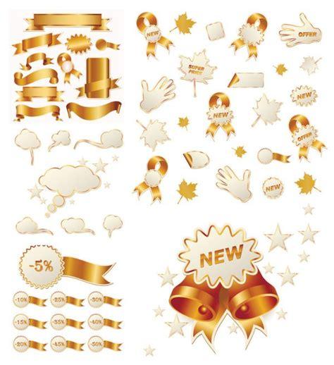 Ribbon Silver N Gold Pita Natal gold ribbon and 벡터이미지 365psd