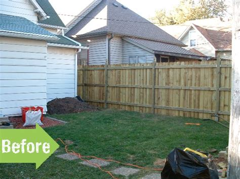 backyard makeovers before and after before after christopher rachel s amazing backyard
