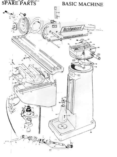 milling machine parts diagram bridgeport mill wiring diagram 30 wiring diagram images