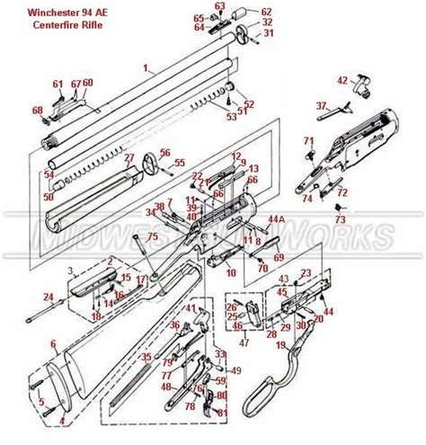winchester model 94 parts diagram winchester model 94 schematic get free image about