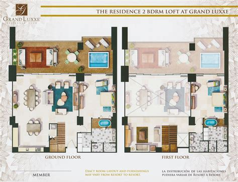 grand luxxe spa tower floor plan floor plans grand luxxe rentals the luxury of status