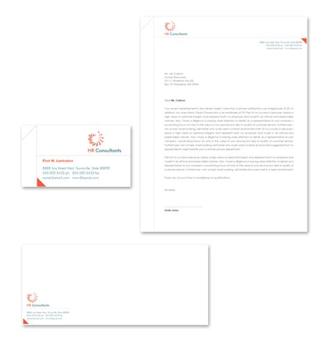 hr consulting template hr consulting stationery kits template