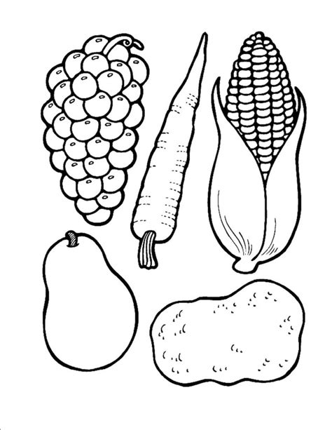 cornucopia coloring pages preschool cornucopia food outlines and cornucopia template links