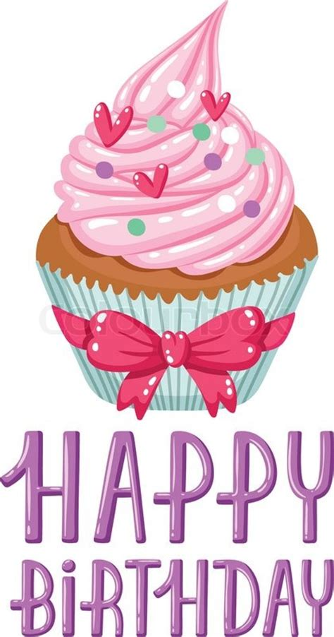 happy birthday design for cupcakes yummy decorated cupcake and happy birthday greeting