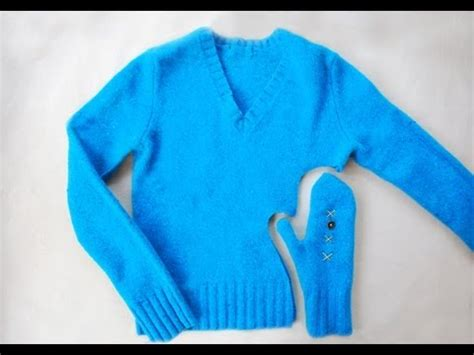how to make a sweater diy make mittens from sweaters in minutes