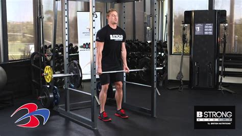 deadlift squat bench workout exercise deadlift with squat rack by b strong academy youtube