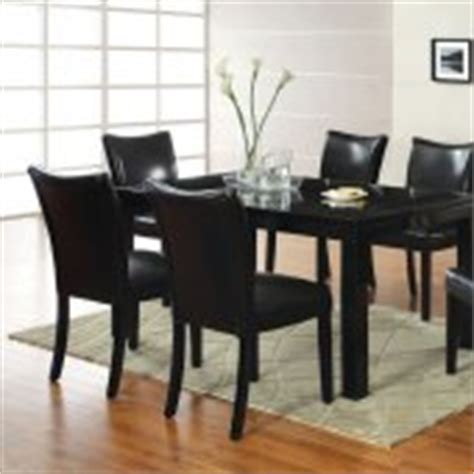 black finish modern dining table w optional side chairs black finish modern dining table w optional side chairs
