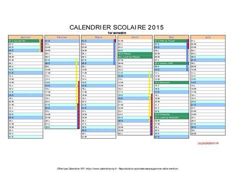Calendrier Scolaire 2015 Calendrier Scolaire 2015 224 Imprimer Gratuit En Pdf Et Excel