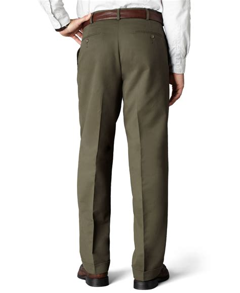 dockers comfort khaki dockers d4 relaxed fit comfort khaki pleated pants in