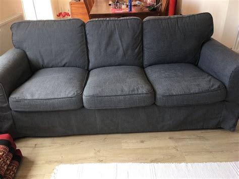 Ikea Ektorp 3 Seater Sofa Covers by Ikea Ektorp Three Seater Sofa Covers Nordvalla Grey