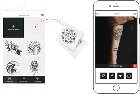 tattoo app ink inkhunter the tattoo app that wants good tattoos for you