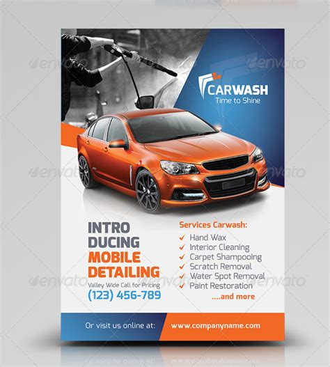 22 Car Wash Flyer Templates Free Premium Download Car Advertisement Template