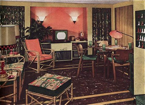 1950s house interior 17 best images about vintage wicker rattan on pinterest