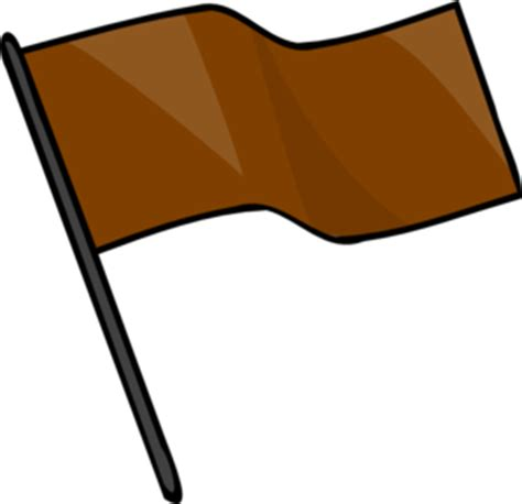 brown flag clip at clker vector clip royalty free domain