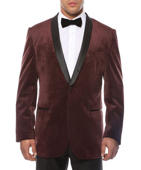 Square Buckle Velvet Belt Maroon the ferrecci enzo slim fit shawl collar tuxedo blazer