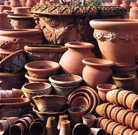 Handmade Terracotta Pots - handmade terracotta flowerpots from whichford pottery