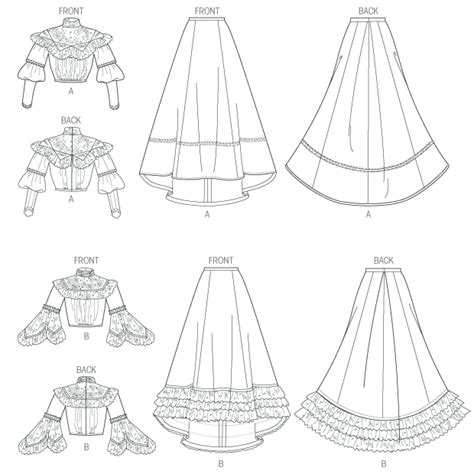 historical pattern review butterick 5970 misses top and skirt