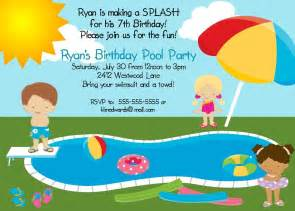 12 exclusive pool birthday invitation theruntime