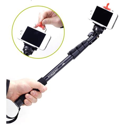 Yunteng Extendable 4 Sections Handheld Monopod Dslryiyi 2 4kgopro yunteng extendable 4 sections handheld monopod with universal cl for dslr xiaomi yi gopro