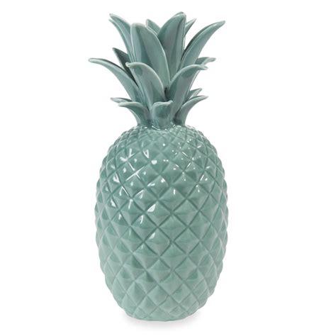 jungle ceramic pineapple ornament green h 24 cm