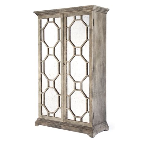 Mirrored Storage Cabinet Antiqued Mirrored Grey Wash Cabinet Maison