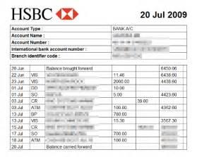 uk bank statement templates mattsbits saving hsbc bank statements to html and csv