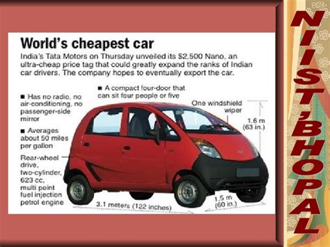 Worlds Cheapest Mba by Tata Nano Worlds Cheapest New Car Is Unveiled In India