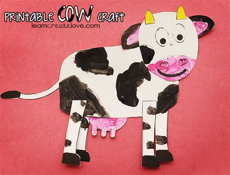cow crafts for printable cow craft