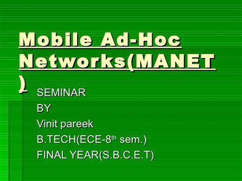 manet mobile ad hoc network manet
