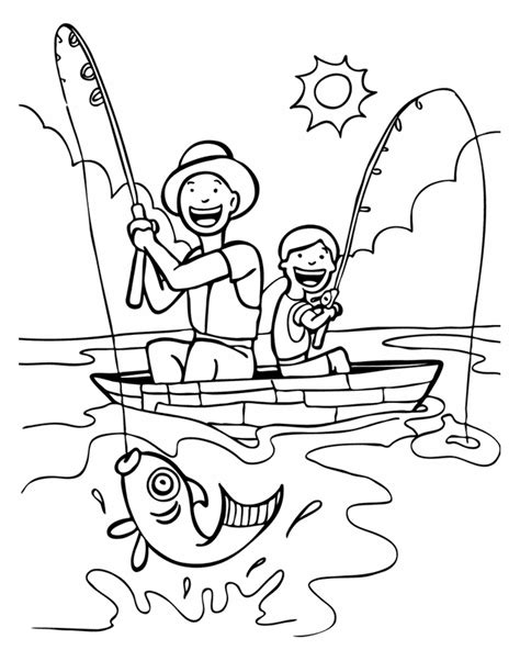 fishing coloring pages and places coloring pages and fishing
