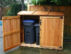 outdoor living today 6x3 oscar trash can storage shed oscar63