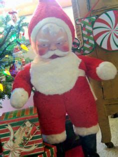 rubber st faces jolly st nicholas on vintage santas