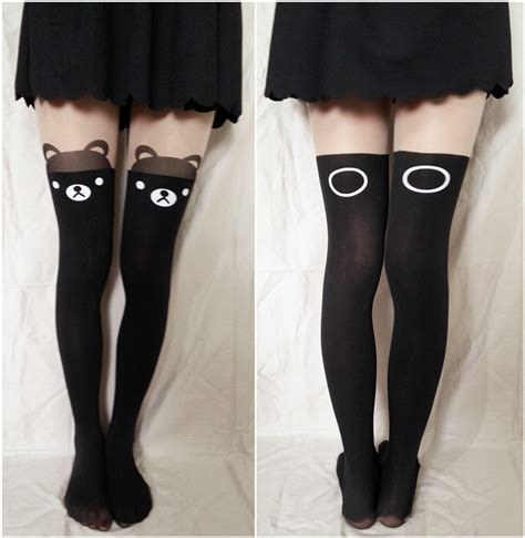 Kaos Anime Miku School White noirlu thigh high tights store powered by