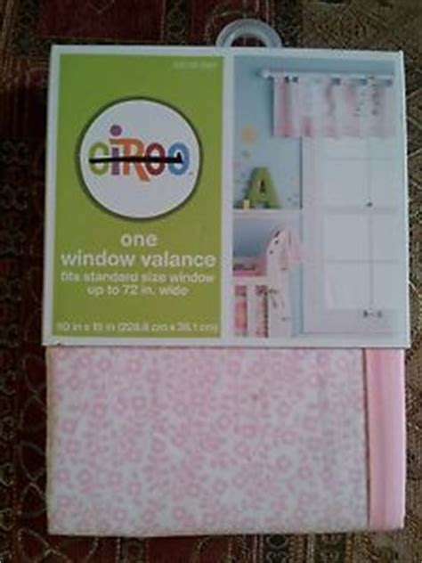 Valance Sizes Standard circo pink window valance one standard size new ebay