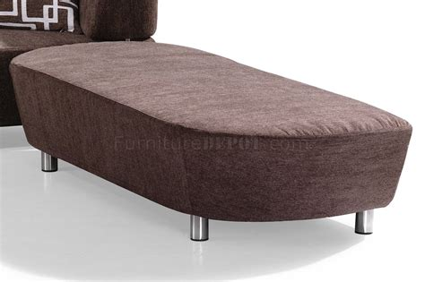 convertible ottoman bed brown microfiber convertible sectional sofa bed w ottoman