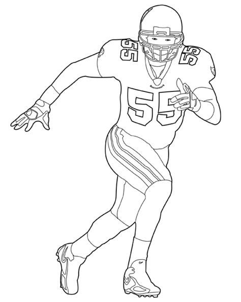 Get This Football Player Coloring Pages Printable For Kids Football Player Color Pages