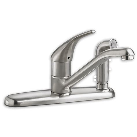 american made kitchen faucets american standard colony soft 1 handle kitchen faucet with side spray allied plumbing