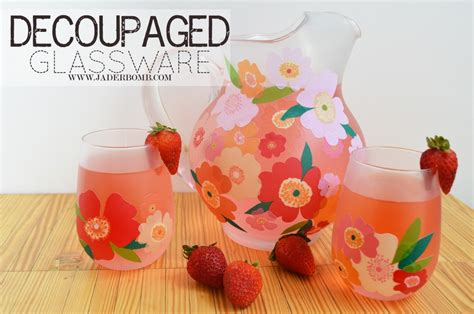 Decoupage Glass - easy fall decor decoupage on glass pitchers and