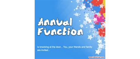 annual function invitation card template invitation letter to parents for school annual function