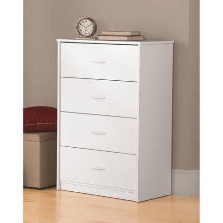 mainstays 4 drawer easy glide dresser finishes